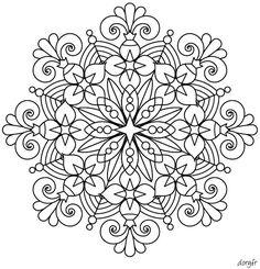 image-de-mandala-a-colorier-48 #mandala #coloriage #adulte via dessin2mandala.com