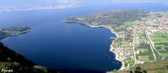 A long beach in Piona, Lake Como | Lunga piaggia a Piona, Lago di Como | #lake #Como #Lago #Italy #lakecomoapp #beach
