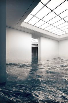 Art Gallery Submerged in River ITCHBAN.com.png // Architecture, Living Space & Furniture Inspiration #11