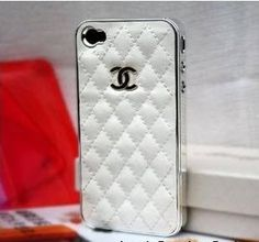 White and Silver Leather designer inspired Iphone 4 Case by Chanel, http://www.amazon.com/dp/B0064MUVY8/ref=cm_sw_r_pi_dp_yieUpb1VK6BGJ