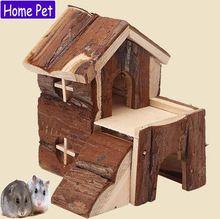 Hamster sírio de madeira Natural estilo de cobaia Fossa de casca de gaiola de ratos favorita de planador do açúcar(China (Mainland))