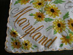 Franshaw Handkerchief  Maryland free shipping by theinlawsattic, $45.00