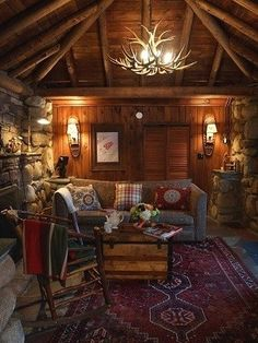 Rustic cabin decorating can seem like an overwhelming task but don't let it get you down. Start small using rustic décor elements but plan big with an entire log cabin interior design laid out.