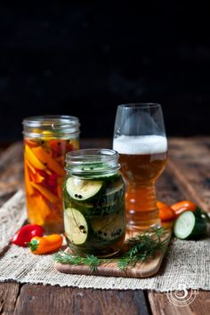 IPA Pickles and Pickled Sweet Peppers | The Beeroness