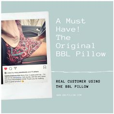 Our ORIGINAL BBL PILLOW 💯✔️ Designed specifically for post Butt Augmentation Surgery to support your recovery process by allowing you to sit without putting pressure on the buttocks. Plus you can use it in the office, while traveling by plane, in car seats, movie house, and in most seatings. It comes with a NEW DISCRETE Black Drawstring Bag!  ______________________________________________ 👉Get yours today at www.bblpillow.com or at Amazon.com By Plane, Customer Feedback, Pillow Design, Surgery, Recovery, Car Seats, Health Care, Traveling, Things To Come