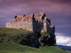 Duart Castle, Isle of Mull, Scotland - Home to the clan Maclean. Essentially, this is my castle. This is the number one place on my travel bucket list.