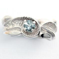 Aquamarine Sterling Silver  Ladies Gemstone Ring  -Size 7 1/4, Silver Jewelry. $55.50, via Etsy.