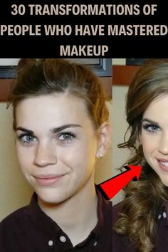 30 Transformations Of People Who Have Mastered Makeup Cute Quick Hairstyles, Trendy Hairstyles, Romantic Girl, Romantic Look, Strapless Party Dress, Edgy Makeup, Hair Shades, Attractive People, Scarf Hairstyles