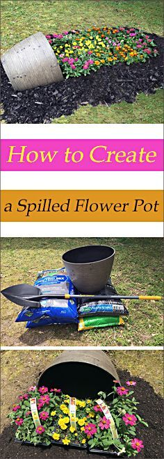 """Learn how to create a spilled flower pot using Southern Patio's 20"""" Keystone Barrel and True Temper's Excavator Digging Shovel - both found exclusively at Lowe's."""