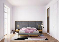 Parisian Apartment by Crosby Studios - Design Magazine Parquetry Floor, Teintes Pastel, Art Deco Stil, Amber Interiors, Pastel Shades, Charcoal Color, Decorating Blogs, White Walls, Decoration