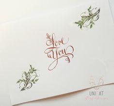 Kalligrafierte Valentinskarte #kalligrafie #karte Lettering, Cards, Letters, Texting, Calligraphy, Brush Lettering