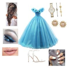 """""""Cinderella"""" by oliviaolmstead on Polyvore featuring FOSSIL, Carolee, Zara and Maybelline"""