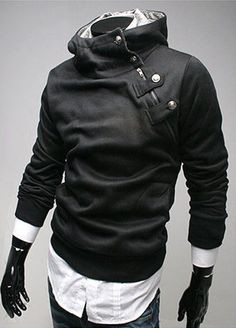 Hot! Freeship New Mens Stylish Slim Zipper hoodies jackets Hoody Fur collar Man autaum coat Man's Pullover hoodies Outwear Freeshipping RY20