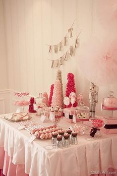 Amelia's Party - maybe use white snowflake trees on the table like this?