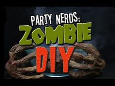 DIY ZOMBIE HANDS | Party Nerds - YouTube