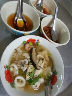 Boy rice sea food