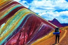 Rainbow Mountains in Vinicunca Peru