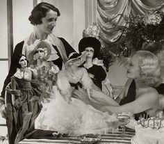Marta Labarr with fashion dolls (1937) by pictosh, via Flickr