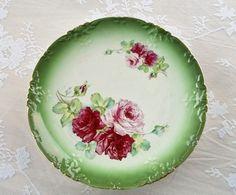 Antique Wheeling Pottery La Bell round platter