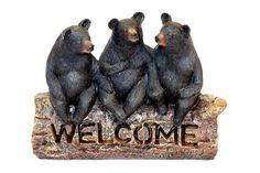 Resin Black Bear Welcome