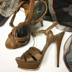 #summer #fashion Lovely Brown High Heels - Yve Saint Laurent