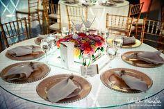 Decoração da mesa de convidados do casamento 02
