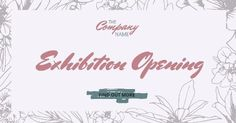A grand opening template. A light pink background with exhibition opening written in the front. Grand Opening, Place Card Holders, Names, Templates, Writing, Creative, Pink, Opening Day, Stencils
