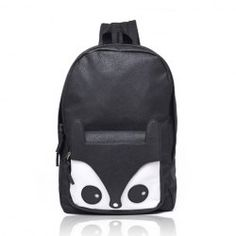 $12.72 Fashion Laconic Women's Backpack With Solid Color Fox Head Zipper Design