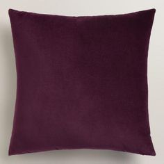 Crafted of luxurious cotton velvet, our wine-hued throw pillow is a classic accent for any room. Combine this exclusive accent with our other velvet pillows in an array of chic colors to refresh your decor instantly.