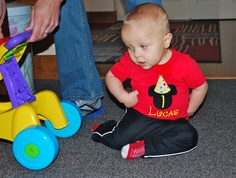 Personalized Mickey birthday shirt- purchased from Azaria Designs on Etsy