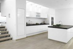 cuisine blanche laquée design