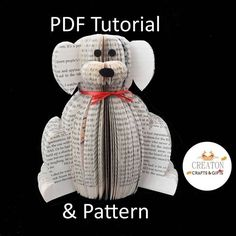 Now available PDF tutorial and pattern for our dog. #giftfordoglovers #doglover #dog #pdf #pdfpattern #pdftutorial #book #bookart #booksculpture #bookstagram #bookphotograph #bookphotography #booknerigans #booksofinstagram #bookdog #books - http://ift.tt/1HQJd81