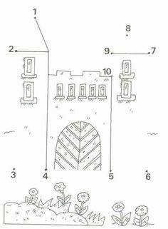 Crafts,Actvities and Worksheets for Preschool,Toddler and Kindergarten.Lots of worksheets and coloring pages. Fairy Tale Theme, Fairy Tales, Preschool Worksheets, Preschool Activities, Castles Topic, Chateau Moyen Age, Castle Crafts, Connect The Dots, Pre Writing