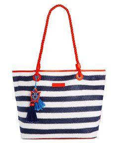 Vera Bradley Beach Striped Tote Handbags   Accessories - Macy s. White Tote  BagWhite ... 825e300f94aa0