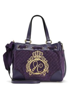 JC MONOGRAM QUILTED VELOUR MINI DAYDREAMER - Juicy Couture