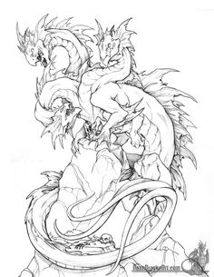 evil dragon Coloring Pages - Bing images Mythical Creatures Art, Fantasy Creatures, Fantasy Dragon, Fantasy Art, Weird Drawings, Dragon Coloring Page, Dragon Artwork, Monster, Colouring Pages