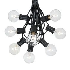 Free Shipping. Buy G40 Patio String Lights With 25 Clear Globe Bulbs - Hanging Garden String Lights - Vintage Backyard Patio Lights - Outdoor String Lights - Market Cafe String Lights - Black Wire - 25 Foot at Walmart.com