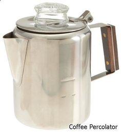 Coffee Percolator - Tops 55702 Rapid Brew Stovetop Coffee Percolator, Stainless Steel, 2-3 Cup #coffeepercolator
