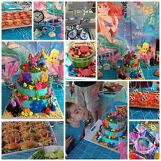 The Little Mermaid Birthday Party Ideas Little Mermaid Birthday, Little Mermaid Parties, Ariel The Little Mermaid, 5th Birthday, Birthday Parties, Kelp Forest, Mermaid Photos, Under The Sea Party, 5 Years