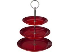 Le Creuset Ruby Red Stoneware 3 Tiered Stand at Food Network Store