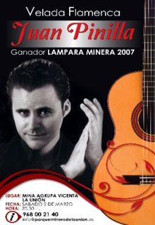 Cartel anunciador actuación Juan Pinilla