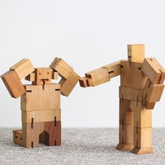Cube Robot is both a challenging puzzle and an action figure that can hold dozens of posesCrafted in Beech wood, Cubebot is an eco-friendly playthingCube Robot