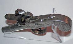 Pocket Flintlock Pistol, made in Liege.