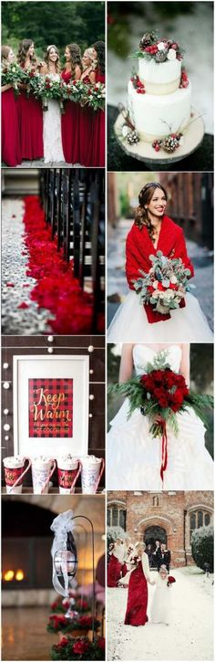 Wedding Colors 24 Eye-catching Red Winter Wedding Ideas You Will Never Regret Having! Wedding Colors 24 Eye-catching Red Winter Wedding Ideas You Will Never Regret Having! Winter Wedding Colors, Winter Wedding Inspiration, Fall Wedding, Rustic Wedding, December Wedding Colors, Simple Elegant Wedding, Winter Bride, Trendy Wedding, Cranberry Wedding Colors