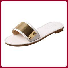 Ms. Wort Pantoffeln Strand Sandalen schlüpfen flachen Sandalen weiblichen minimalistisch , A , US5.5 / EU35 / UK3.5 / CN35