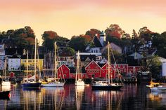 Lunenburg, NS - cute little seaside town, big brightly painted houses and shops, beautiful sailboats and origin of the famous scooner Bluenose
