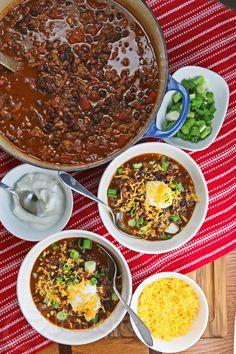 Slow Cooker Black Bean Turkey Chili Recipe | Jeanette's Healthy Living