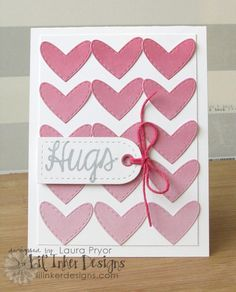 These paper craft dies are designed specifically to coordinate with our Floating Hearts Die. These are perfect for Valentine's Day and ANY day! Valentine Day Cards, Be My Valentine, Valentine Ideas, Paper Cards, Diy Cards, Handmade Cards, Valentine's Day Printables, Square Card, Card Patterns