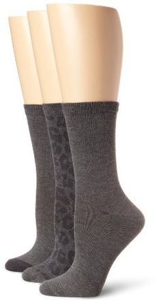 Nine West Women's Animal Print Solid Tipped 3 Pair Pack Crew Sock, Charcoal, One Size Nine West. $14.00. Comfort toe. 97% Polyester/2% Spandex/1% Rubber. Comfort top. Machine Wash. Made in China