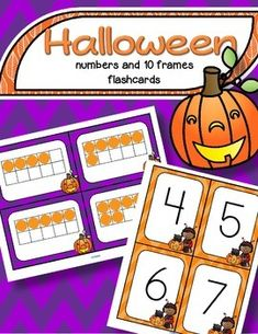 ***FREE***   A set of BIG Halloween theme number flashcards 0-20, plus a set of 10-frame flashcards, 0-20 - for centers, individual work, and small group teaching. They can used for matching, sequencing, subitizing, recognition, and memory, concentration and snap games.
